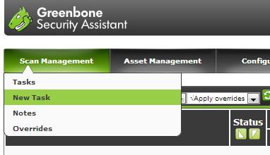 図3 タスクを登録するには「Scan Management」メニューの「New Task」を選択する