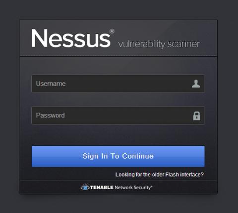図11 Nessus管理画面へのログイン画面