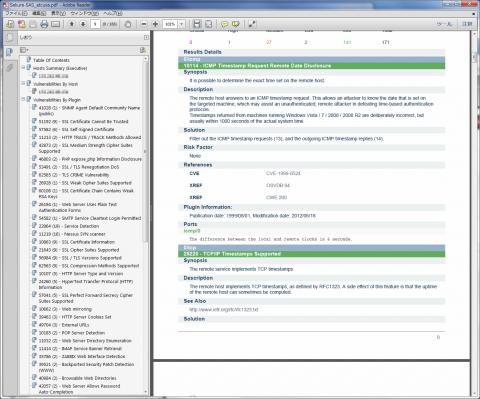 図20 PDF形式で出力されたレポート