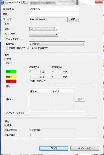 図4 「リソース[作成・変更]」画面