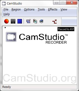 CamStudioのメインウィンドウ