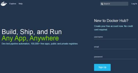 図3 Docker Hubのアカウント作成画面