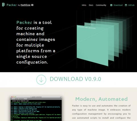図1 PackerのWebサイト