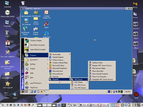 Accessing Windows ME from Linux