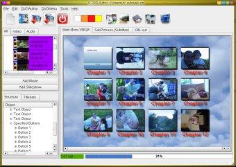 Q DVD-Author main window