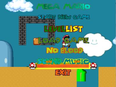 図3 どこかで見たような髭の主人公を操るアクションゲーム「Mega Mario」