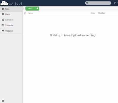 図5 ownCloudのメイン画面