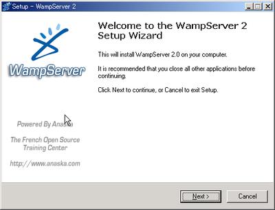 図2 WampServerのインストールウィザード
