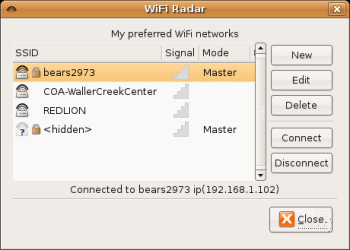 WiFi Radar Connections