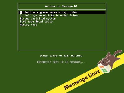 図2 Momonga Linuxのブートメニュー