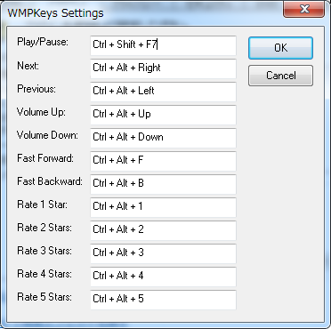 WMP global hot keys plugin