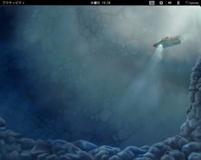 図1 GNOME Shellのデスクトップ