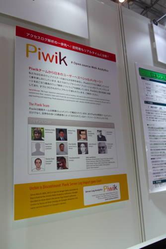 写真8 オープンソースのアクセス解析ツール「Piwik」