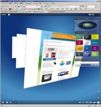 図2 Windows Vistaのフリップ3D風の「Stack」表示