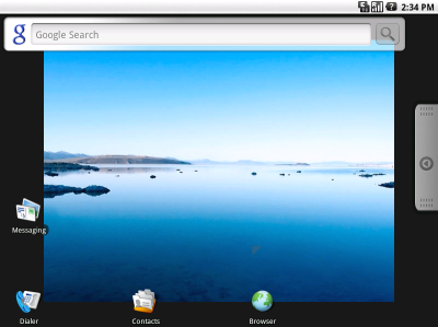 図2 Live Andoroidのデスクトップ