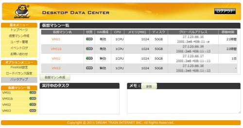 図1 ServersMan@VPSのGUIコンソール