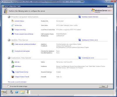 図46 リモートデスクトップ接続クライアントでインスタンスのデスクトップにアクセスできる