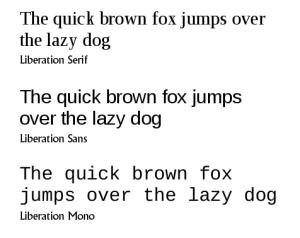 Liberation Fonts