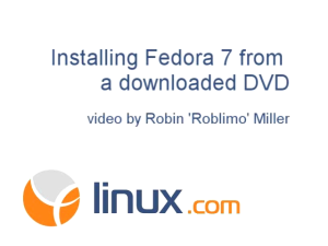 Installing Fedra 7 from a downloaded DVD