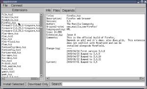 図7 AppbrowserではFirefoxなどの定番ツールがインストール可能だ