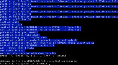 図1 OpenBSDのインストーラ