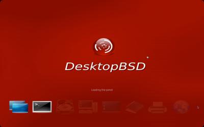 図1 DesktopBSDのロード画面