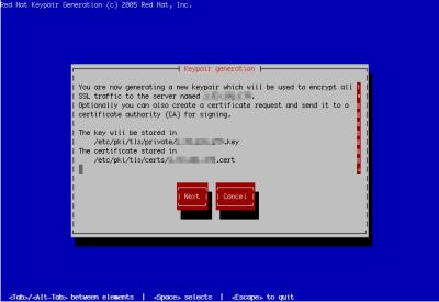 図19 genkeyコマンドではウィザード形式で暗号鍵やサーバー証明書を作成できる