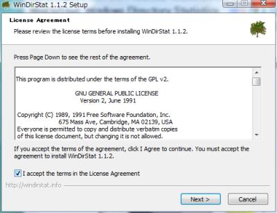 図3 インストーラを起動すると、ライセンスが表示される。「I accept the terms in the License Agreement」にチェックを入れて「Next」をクリックする。