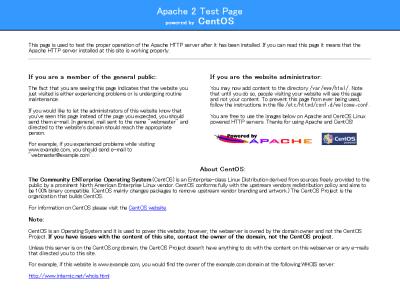 図7 Apacheのデフォルト画面