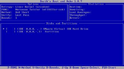 図1 DBANのメイン画面