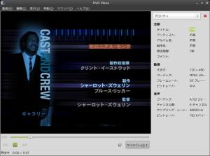 図14 コーデックをインストールすることで、マルチメディア再生ソフト「Totem」でもDVDを再生できるようになる
