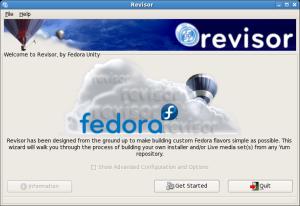 Revisor Welcome Screen