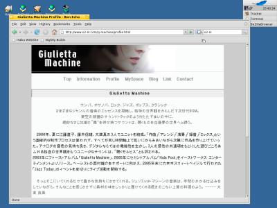 図12 FirefoxベースのWebブラウザ「BeZillaBrowser」