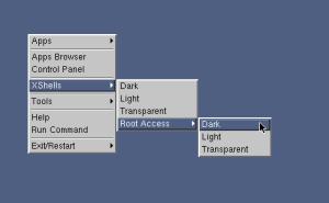 図3 デスクトップを右クリックするとメニューが表示され、アプリケーションやターミナルを起動できる