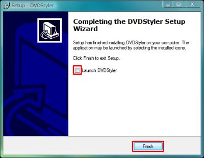 図3 先にDVDStyler1.7.0をインストール。「Launch DVDStyler」のチェックを外しておく