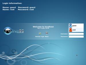 図3 PCLinuxOSライブ版のログイン画面