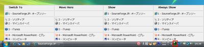 図11 一覧上で項目名をクリックすると「Show」という項目が追加される