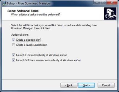 図8 デスクトップのFDMショートカットやスタートアップ起動は、必要に応じて設定する