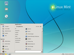 The Linux Mint desktop