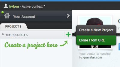 図24 Cloud9 IDEのDashboard画面で「Clone From URL」をクリックする