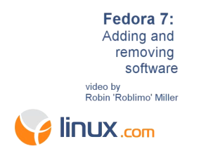 Fedra 7: Adding and removing software