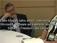 Eben Moglen talks about coexisting with Microsoft