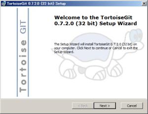 図4 TortoiseGitのインストーラ。インストール後には再起動が必要だ