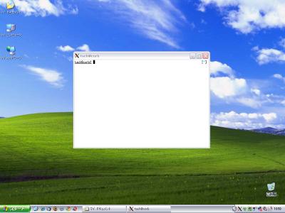 図1 リモートで実行しているgnome-terminalをXmingサーバーで表示