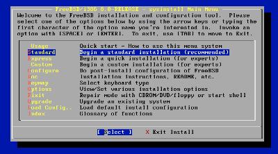 図1 CUIのインストーラ「sysinstalll」