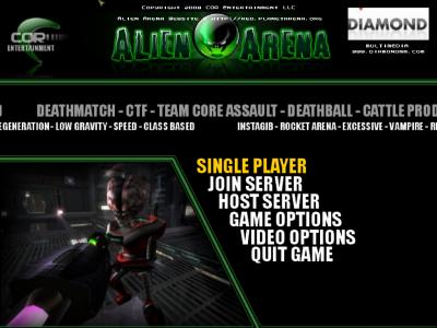 図4 エイリアンと戦うFPSゲーム「AlienArena」