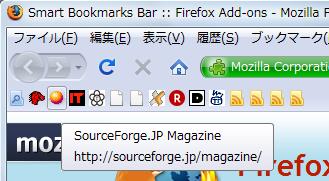 図5 「Show bookmarks names on mouse over」のチェックを外すと、ブックマークのタイトルが表示されないようになる