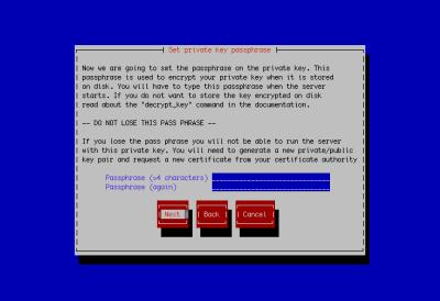 図24 秘密鍵の暗号化に使用するパスフレーズを入力する