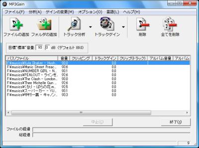 図1 MP3の音量を一定に揃える「MP3Gain」